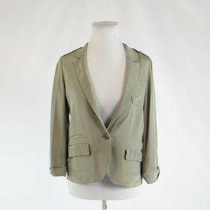 Stone gray 100% silk ELIZABETH AND JAMES  jacket 2